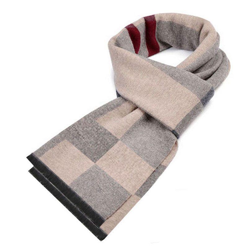 b5de180760aab High Quality Cashmere Scarf Mens 2018 Autumn Winter Warm Plaid/ Striped  Scarves Gentleman Fashion Scarf Scarves Size 180*30 Cm Fashion Shop  Pashmina Scarf ...