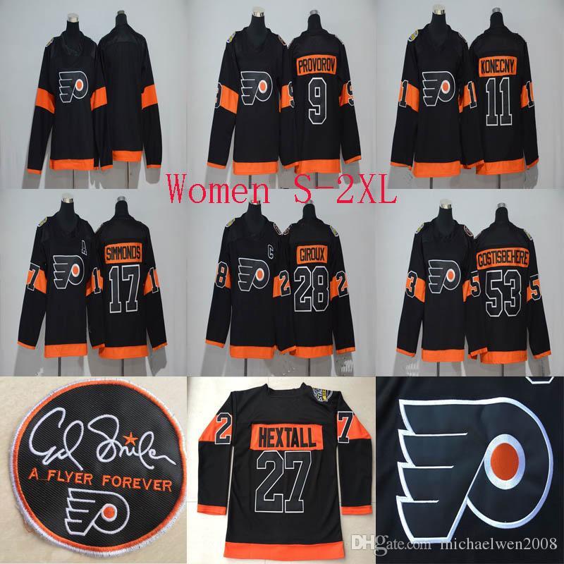 2019 Lady 2017 Stadium Series Jersey 27 Ron Hextall 9 Ivan Provorov 11  Travis Konecny 88 Eric Lindros 93 Jakub Voracek Philadelphia Flyers Jersey  From ... 37ced2b28