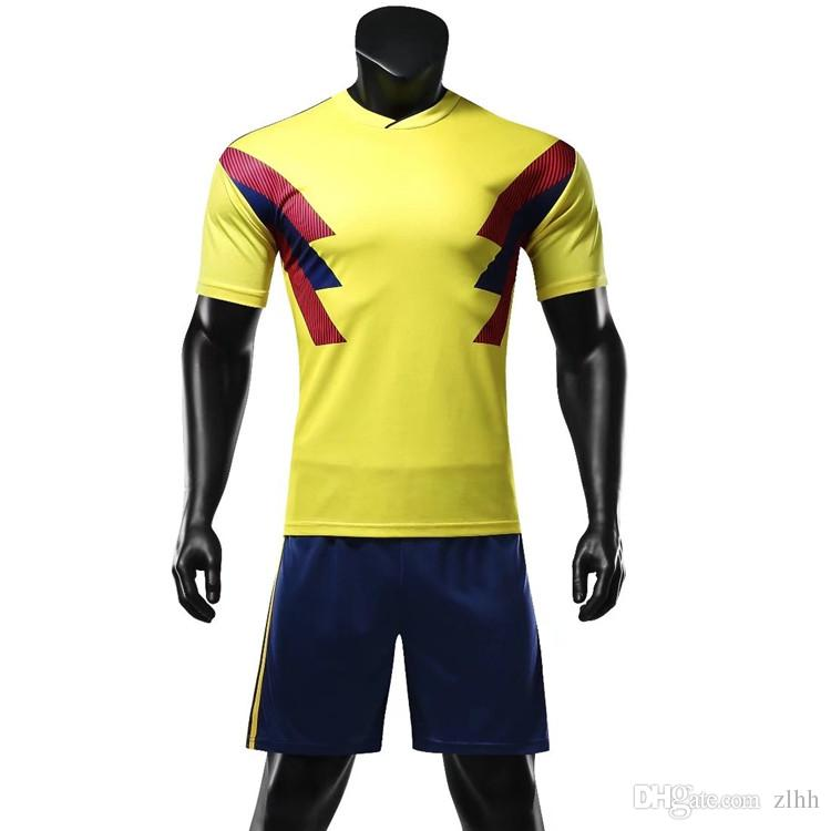 ce4051696 2018 New Soccer Jerseys Sets Breathable Absorbent Short-sleeved ...
