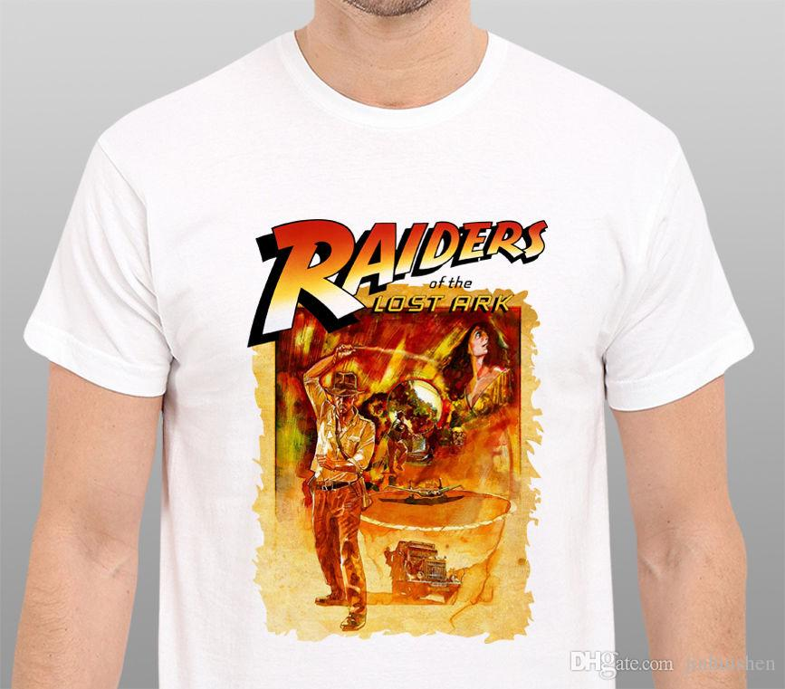 2018 Latest Fashion Indiana Jones Raiders Of the Lost Ark vintage Art T-Shirt Size: S-to-XXLHigh Quality Top Tees