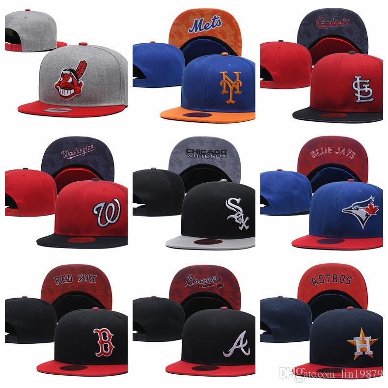 2019 New Arrival Indians Mets Cardinals Blue Jays Cubs Braves Astros  Brewers Snapback Hats Gorras Bones Men Women Hiphop Baseball Caps Mens Hats  Baseball ... 77a3c3aba56