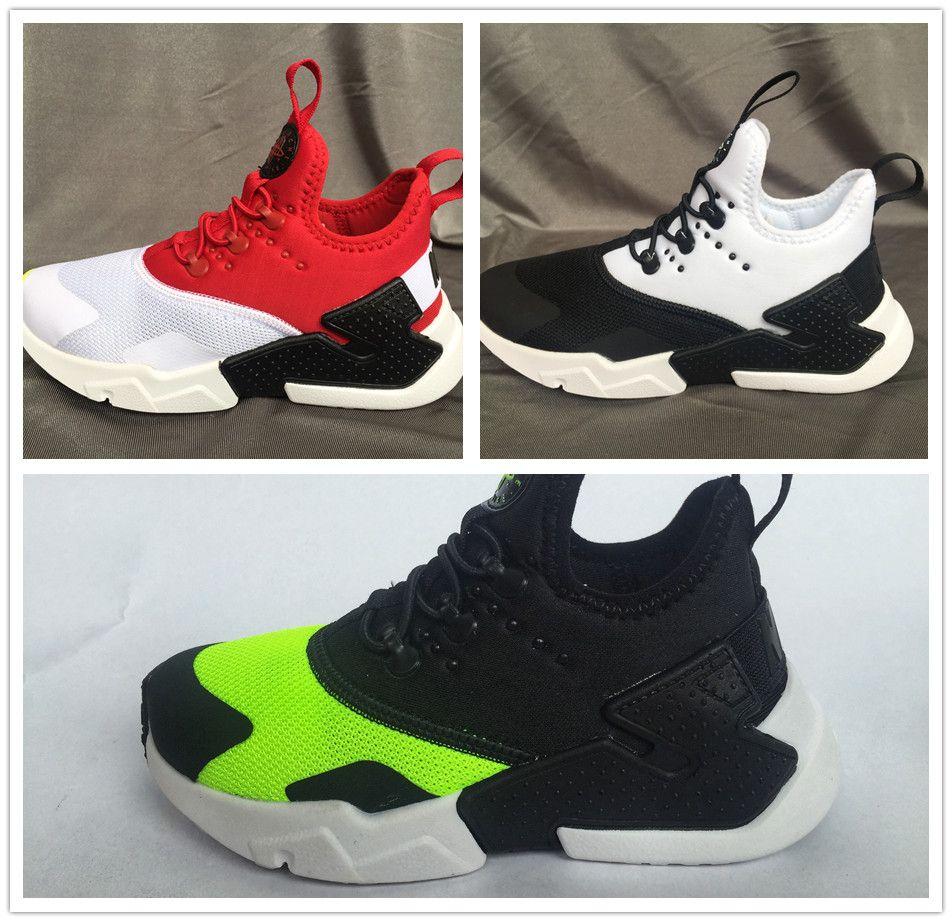 check out ff900 7869e Acheter Nike Air Huarache Vente Chaude Air Huarache Ultra Chaussures De  Course Enfants Sport Blanc Enfants Huaraches Designer Garçons Filles  Baskets Casual ...