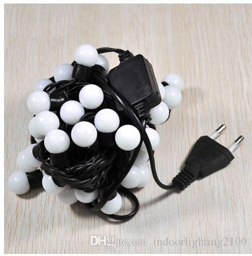 AC 110V / 220V 5 mètres 50lights Holloween Led Round Ball Lights chaîne de Noël arbre Festival décoration Ball String Lights lampes
