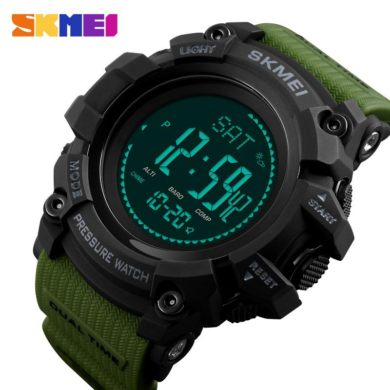 Skmei Brand Mens Sports Watches Hours Pedometer Calories Digital Watch Altimeter Barometer Compass Thermometer Weather Men Watch Watches Men's Watches