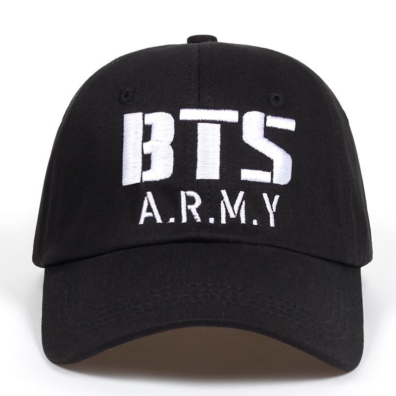 Compre Kpop BTS ARMY Logo Bordado Gorra De Béisbol Algodón Corea Hiphop  Bangtan Niños Unisex Snapback Hat Hombres Mujeres Ajustable K Pop Caps A   29.13 Del ... 6d87088693e