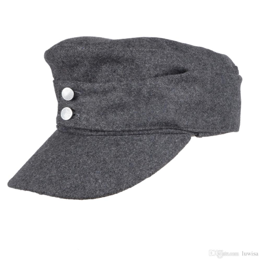 WWII GERMAN ARMY EM PANZER M43 M1943 FIELD WOOL CAP GREY M L XL UK 2019  From Luwisa 24599e82152b