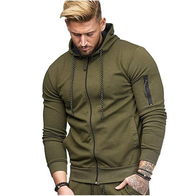 Army Green Men S Hoodies Tracksuit 2018 Autumn Winter Drawstring Pocket Hooded  Sweatshirt Long Sleeve Zip Slim Coat Male Jacket UK 2019 From Cety 154dbdd73