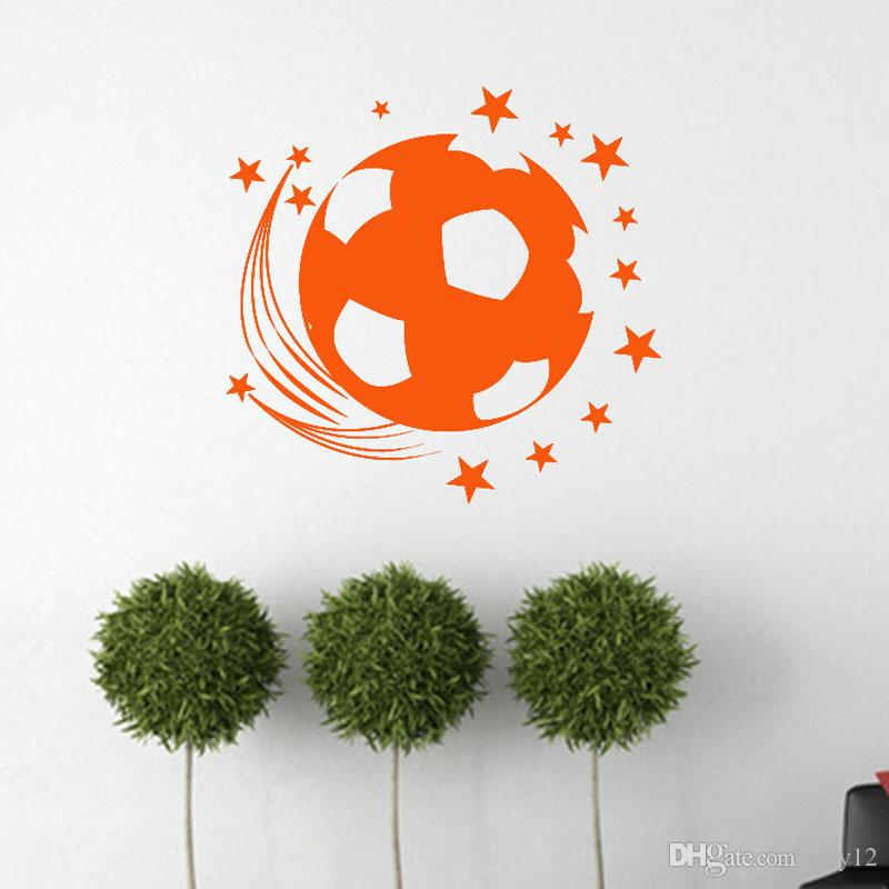 3D Football Soccer Playground Window View Home Decals Wall Sticker for Boys Room Sports Decor Mural
