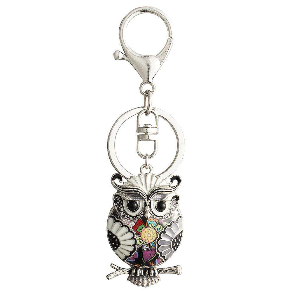 Personalized Cartoon Owl Keychain for Women Birthday Gift Animal Enamel Bag Keyring  Owl Keychain Owl Keyring Enamel Owl Keychain Online with  6.75 Piece on ... 72aea946b