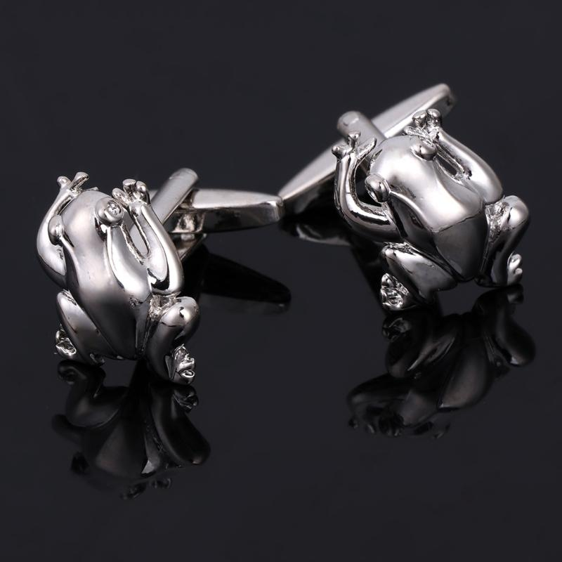 Novelty Frog Design Men Jewelry Wedding Party Business Shirt Cufflinks Cuff Link