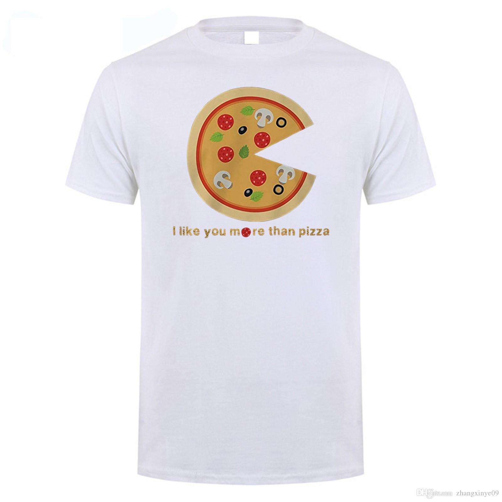 I Like You More Than Pizza Matching Couple T Shirts Valentines Day Gift  Foodies Interesting T Shirt Purchase T Shirts From Zhangxinye09, $11.99|  Dhgate.Com