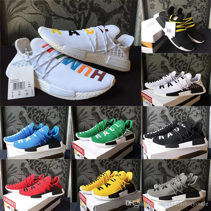 huge selection of 78f86 553ae Price cheap Pharrell Williams Human RACE HU NMD Trail Mens Designer Sports  Running Shoes for Men Sneakers Women Casual Trainers