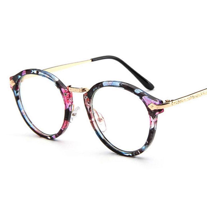 1a9439fada611 Compre Estilo Bonito Do Vintage Óculos Mulheres Óculos De Armação Redonda  Óculos De Armação Óculos De Armação Óptica Retro Oculos Femininos Gafas De  ...