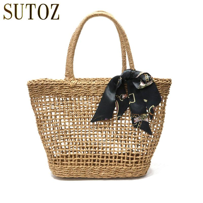Bohemian Straw Bags Woven Women s Handbags Designer Beach Bag Summer ... 7a9e591c1204b