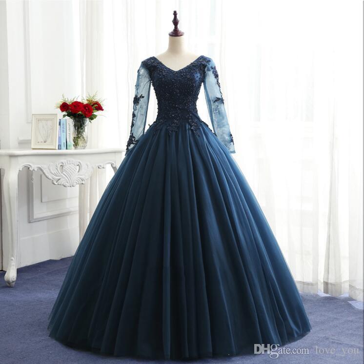 Vereinigt Royal Blue Günstige Quinceanera Kleider 2019 Ballkleid Liebsten Rüschen Organza Pailletten Kristalle Bonbon 16 Kleider Gute QualitäT Weddings & Events