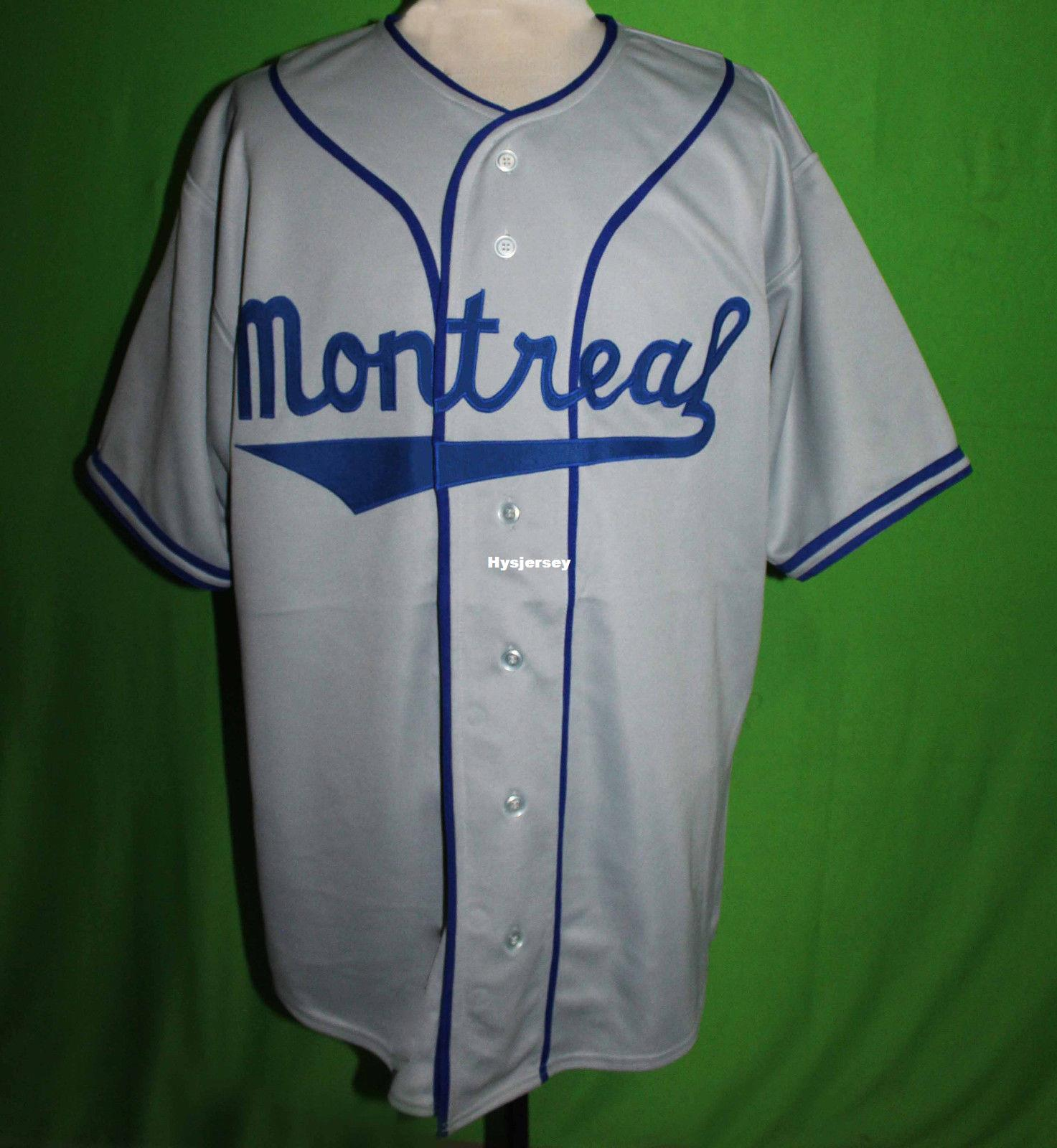 2019 Cheap Retro JACKIE ROBINSON MONTREAL  9 1946 Road BASEBALL JERSEY ANY  Mens Vintage Jerseys XS 5XL From Hysjersey 74bdbf96cba