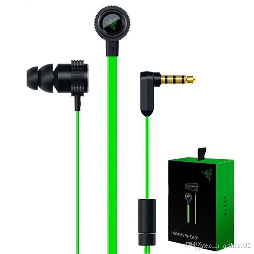 Razer Hammerhead Pro V2 سماعة في الأذن سماعات لطيفة الصوت مع ميكروفون سماعات عزل الضوضاء ستيريو باس 3.5 مم