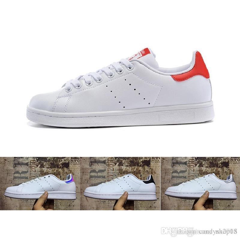 the latest 613f0 f59bb Compre Adidas Smith 2018 Marca De Calidad Superior De Las Mujeres De Los  Hombres Nuevos Zapatos Stan Moda Snith Sneakers Casual De Cuero Deporte  Zapatos ...