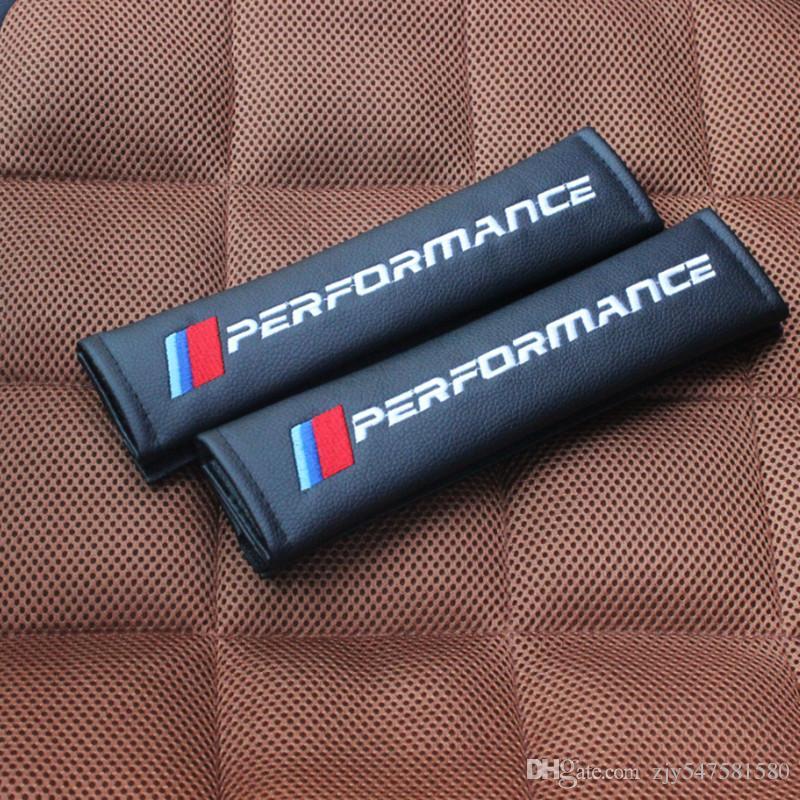 / Set NOUVEAU Car Styling PU matériel Ceinture de Sécurité Couverture Siège Épaulière Accessoires Pour BMW E93 E60 E61 F10 F30 F07 M3 M5 E63