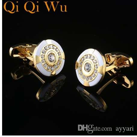 90fbe5ea0b3 Men s Jewelry Brand Crystal Round Cufflinks Wholesale Buttons ...