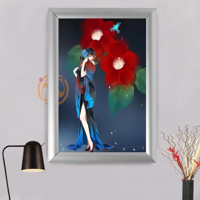 Großhandel Modeboutique Benutzerdefinierte Blumen Rahmen Malerei ...