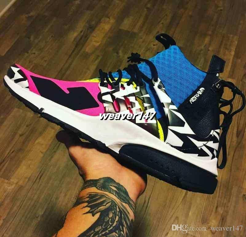ae9f3307b70 2018 Air Zapatillas Acronym X Presto Mid Running Shoes Racer Pink ...