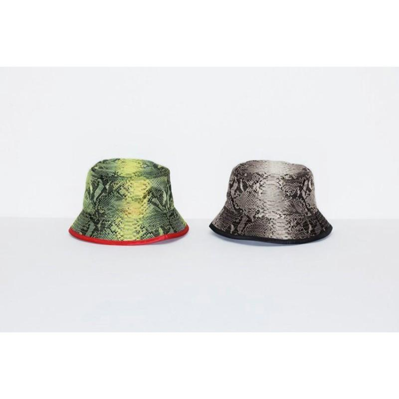 2019 Box Logo Snakeskin Packable Reversible Crusher Luxury Street Outdoor  Travel Bucket Hat Cap Fashion Casual Hat HFTTMZ003 From Warehouse me adf7e487dbb