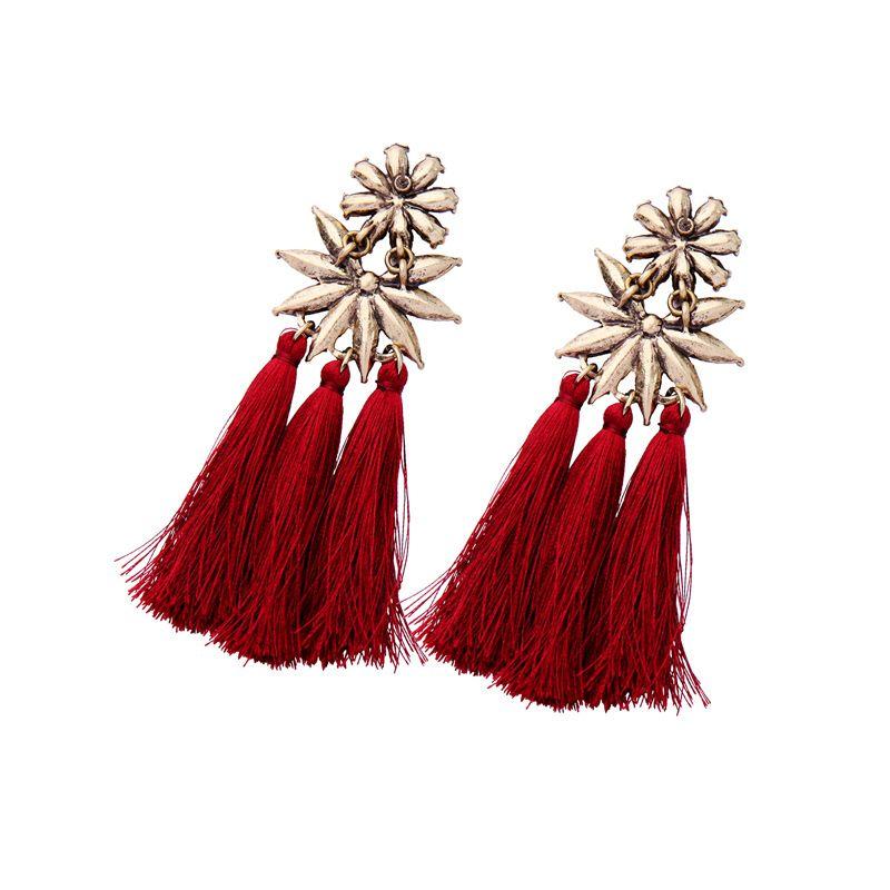 Wholesale factory supply 2018 new design fashion jewelry gold color plating rhinestones women earrings cc earring Europ pendnats earrings