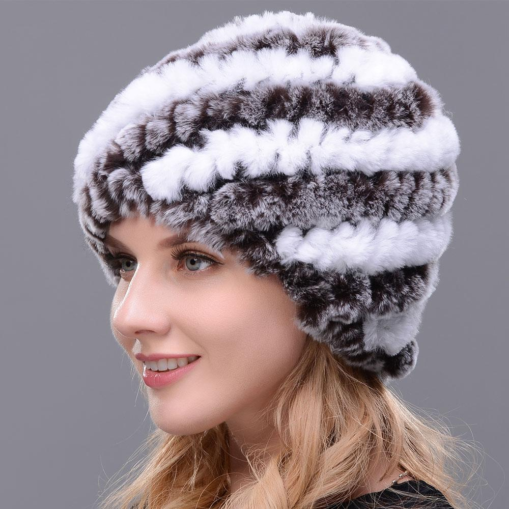 c1555be8fe3 Cheap Rabbit Fur Hat For Women Winter Hot Sales New Fashion Knitted Thick  Warm Female Hats Baby Hat Crochet Baby Hats From Lantana