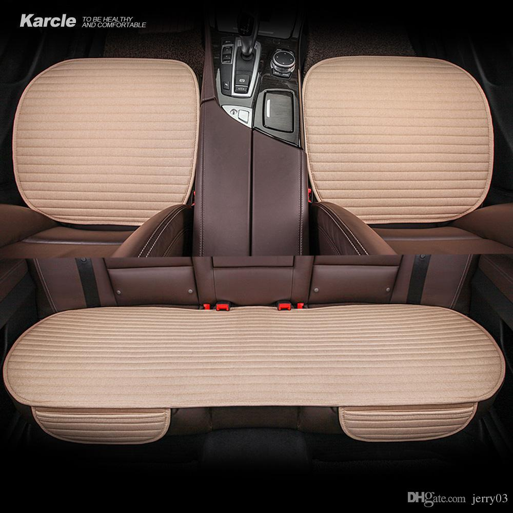 karcle linen car seat cvoers universal breathable seat cushion 4karcle linen car seat cvoers universal breathable seat cushion 4 seasons common cool summer car styling auto accessories custom car seat covers for baby