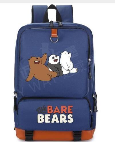 2018 We Bare Bears Cute Bear Backpack Women Cartoon Travel Shoulder Bag Men  Student School Bags Canvas Teenage Girl Backpacks Swissgear Backpack Swiss  ... 438f3d5711ecb