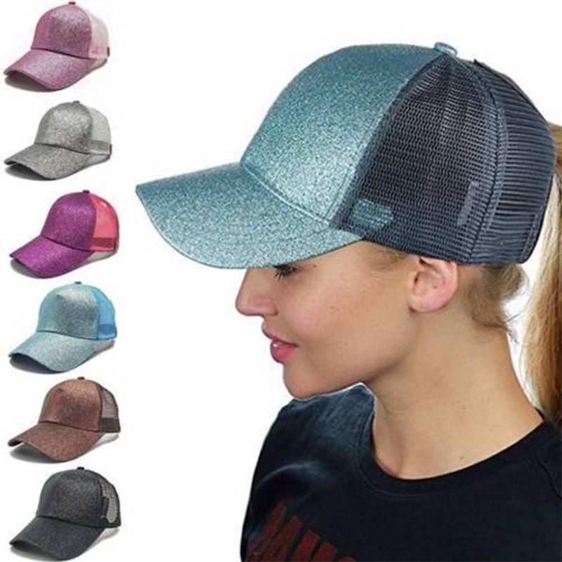 5816cfc978d41 Ponytail Baseball Cap Women Messy Bun Baseball Hat Snapback Sun Sport Caps  Baseball Caps For Women Caps Hats From Playnice