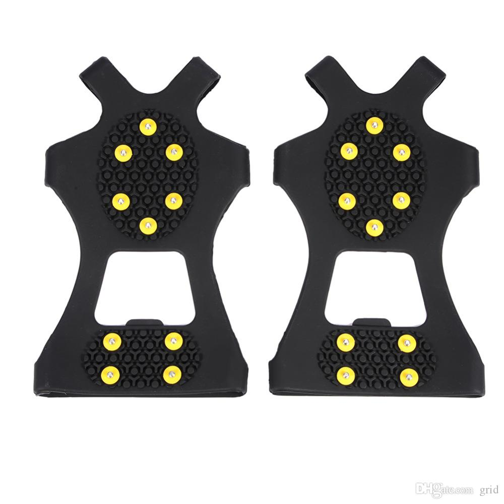 2018 Outdoor Unisex Snow Antislip Spikes Grips Grippers Crampon Cleats For Shoes Boot Overshoses