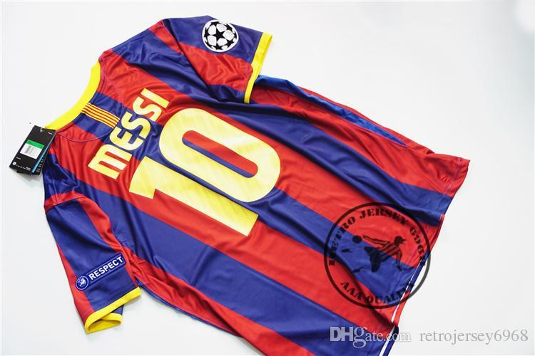 ec9d83393f4 2019 2010 2011 Home Messi Xavi Henry Puyol David Villa Retro Jersey Old  Shirts Final Champion League From Retrojersey6968, $26.16 | DHgate.Com