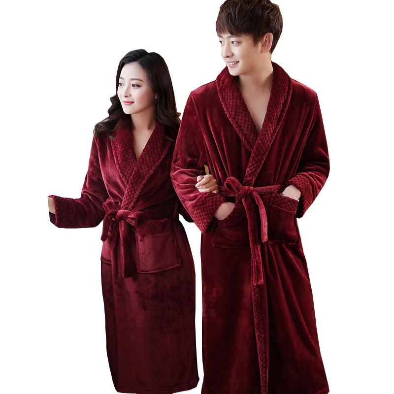 6c907909f0 2019 On Sale Men S Extra Long Soft As Silk Flannel Bathrobe Men Winter Warm  Bath Robe Mens Dressing Gown Bathrobes Male Kimono Robes From Zhusa
