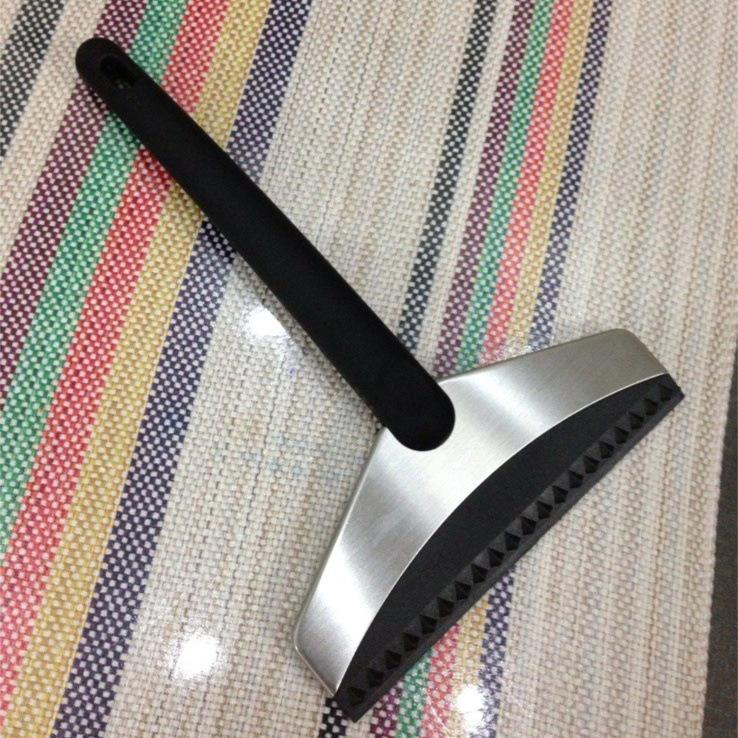 Winter Stainless Steel Squeegee Durable Rubber Edge Car Windshield Glass Window Water Ice Scraper Wiper Cleaner Snow Shovel