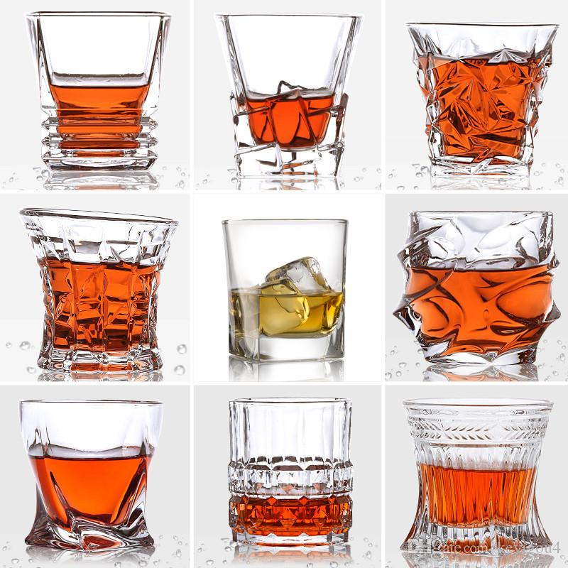 b7a41ab0f99 2019 Square Whiskey Glasses Crystal Glass Cup Cocktail Bourbon Whisky Glass  For Home Bar Party Hotel Wedding Glasses Drinkware From Keyigou4