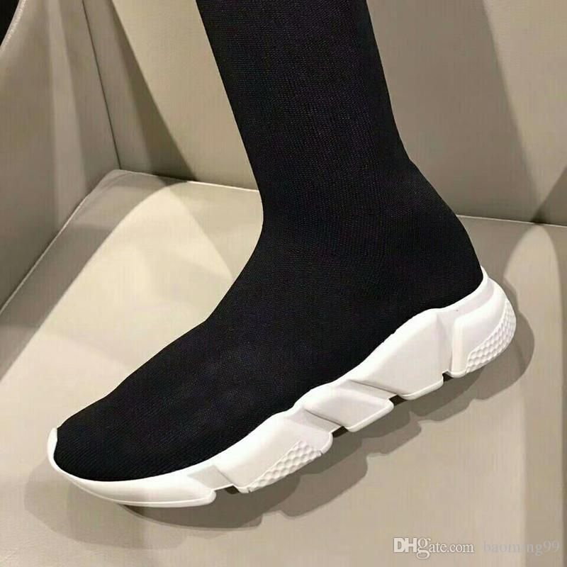 lange Socke Schuh Speed Trainer Laufschuhe Sneakers Speed Trainer Socke Race Runners schwarz Schuhe Herren und Damen Sportstiefel