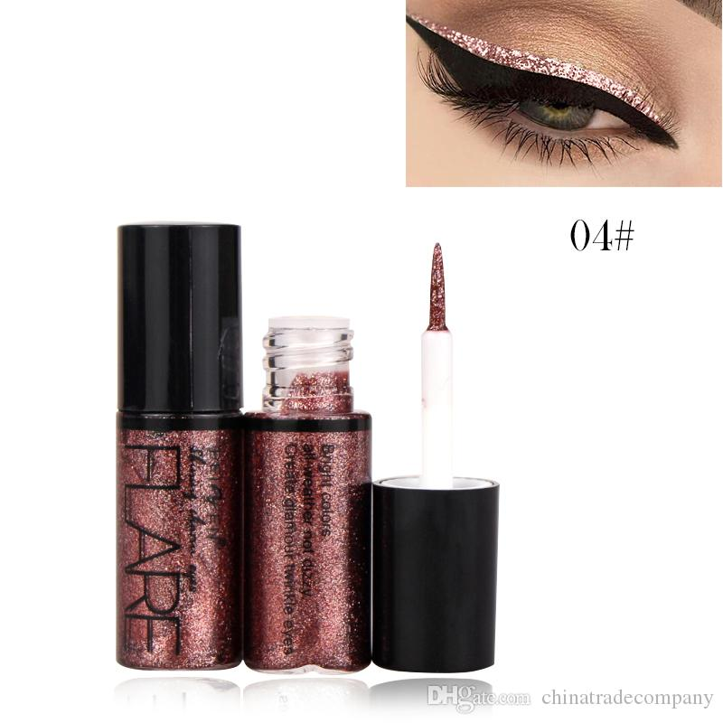 Eye Shadow Nice Pigment Silver Rose Gold Color Liquid Cosmetics For Women Professional New Shiny Eye Liners Glitter Eyeliner Cheap Makeup Making Things Convenient For The People