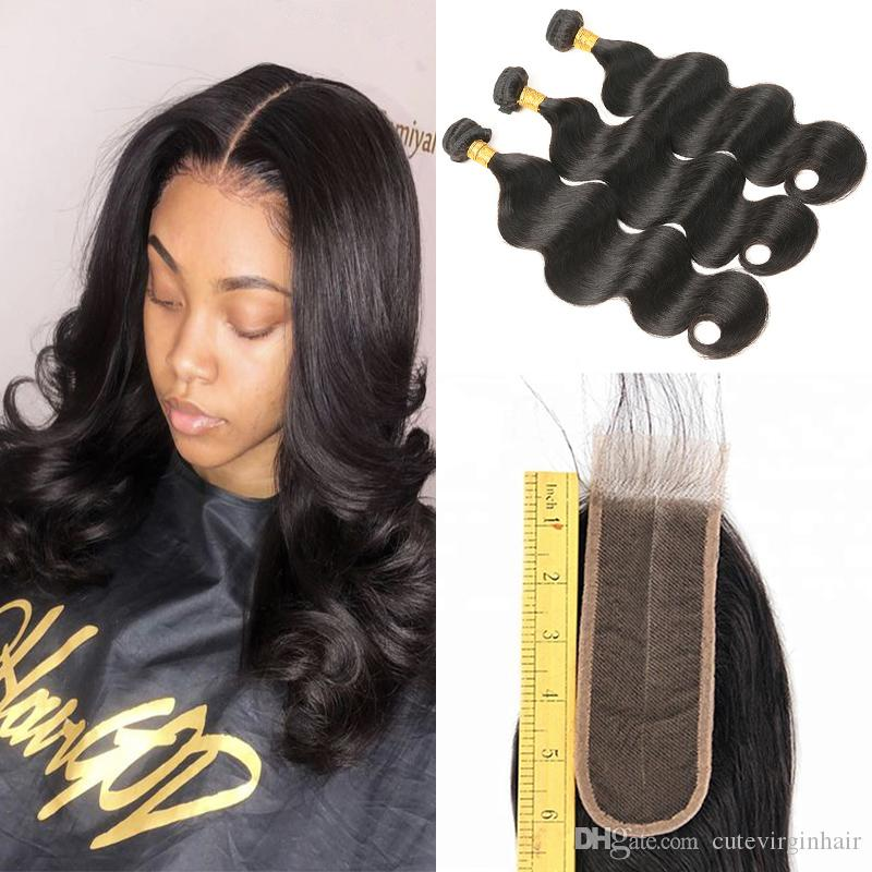 Lovely Middle Part Weave Hairstyles