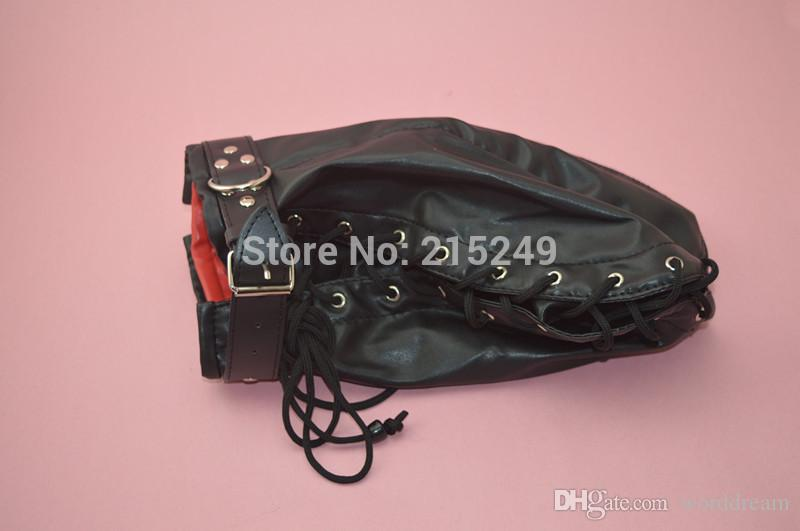 BDSM Soft PVC Leather Hood Mask Headgear In Adult Games For Couples,Fetish Erotic Porno Sex Products Toys For Women And Men