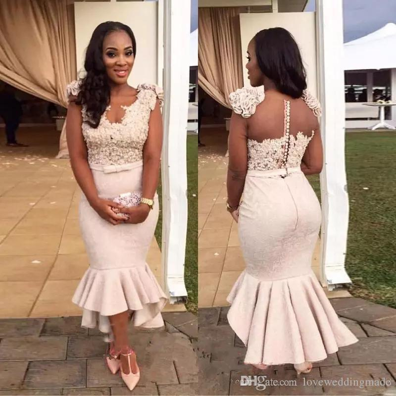 Cheap Floor Length Mother Bride Lace Gowns Discount Lace See through Bridesmaids  Gown b13d90ea90e4
