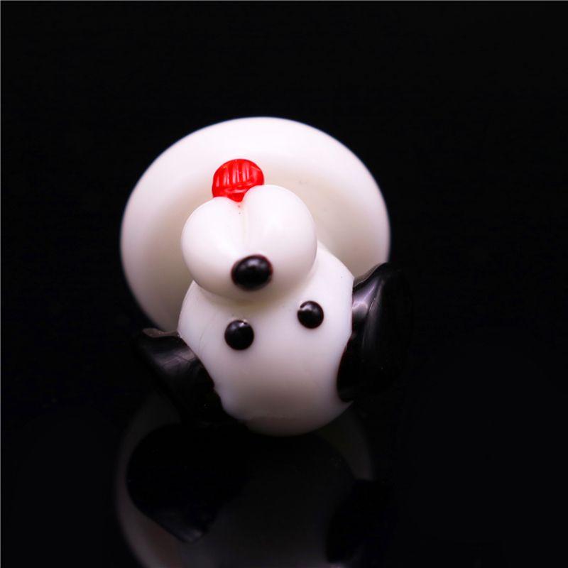 Dog Solid Glass Domeless Carb Cap OD25mm smoking glass tool for flat top Quartz Banger Nails carb cap