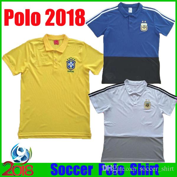 2019 2018 World Cup Soccer Polo Shirt Brazil Soccer Jersey 2018 Argentina  Short Sleeves Man Soccer Polo Shirt Football Uniforms Sport Shirts From ... 6c72a3729