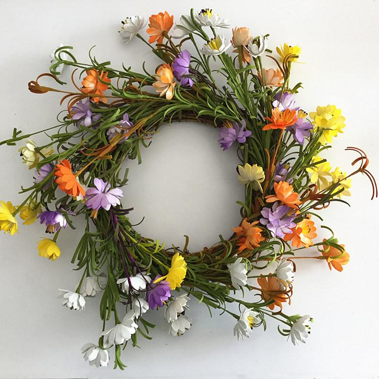 18 Inch Wild Floral Twig Door Wreath For Spring Front Door Decoration Wild  Floral Twig Wreath 18 Inch Twig Door Wreath Spring Front Door Wreath Online  With ...