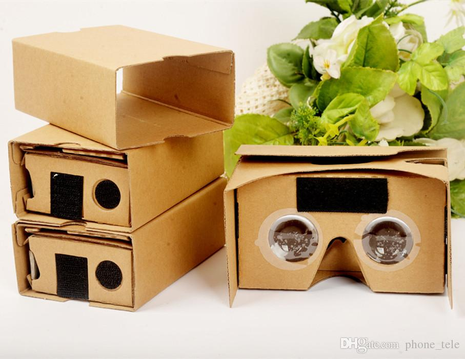 Google 2 2 0 Version Cardboard Glasses Diy 3d Vr Boxes Virtual