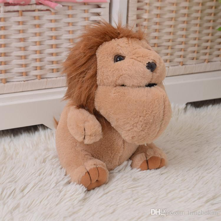 2019 Forest Animal Huge Chin Panda Lion Hedgehog Wolf Plush Toys