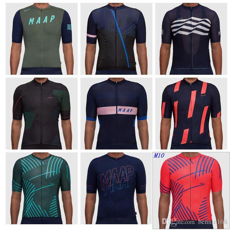 MAAP Short Sleeves 2018 Summer Style Cycling Jerseys For Men Women Bike  Tops MTB Ropa Millot Size XS 4XL Bicycle Wear Bike Apparel Cycling Bib From  ... bb58c6786