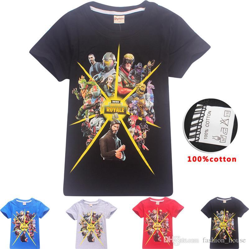 c8987f5d9c4e8 Acheter Free Dhl 30 Style Garçons Filles Fortnite T Shirts Nouveau Enfants  Jeu Cartoon Coton À Manches Courtes T Shirt Bébé Enfants Vêtements Pour 3 ~  14ans ...