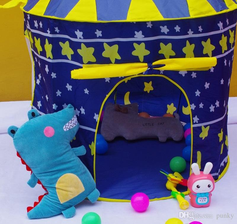 Children Beach Tent Prince and Princess Castle Children Playing Indoor Outdoor Toy Tent Game House